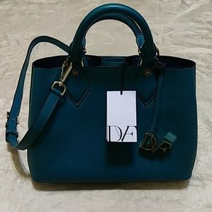 DVF Bonded Leather Carryall Tote